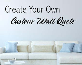 Custom Wall Decals | Etsy