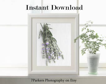 Kitchen Decor; Modern Farmhouse Wall Decor; Herb Printables; Garden Art Print; Kitchen Wall Art; Botanical Print; Lavender Prints; Digital.
