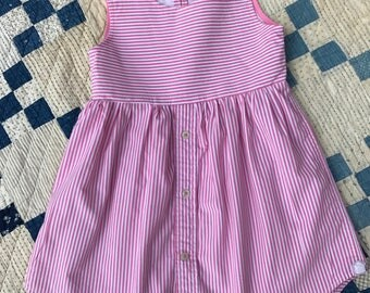 Pink and white striped dress size 3T