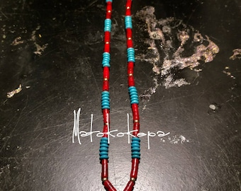 Red Heshi Arrowhead Necklace