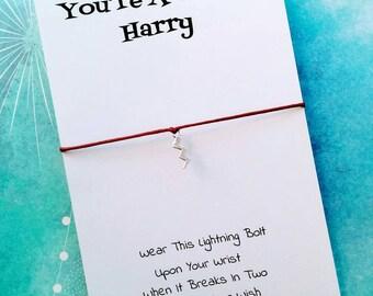 Harry Potter Charm Bracelet - You're A Wizard Harry Wish Bracelet