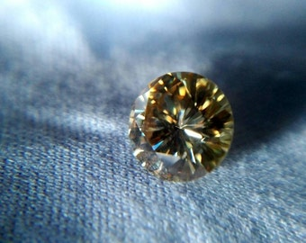 Classy Yellow Canary Gold Moissanite -- USA+Video