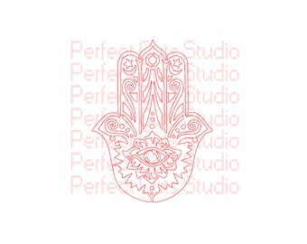 Buddhist Symbol of Protection, Luck, and Inner Strength SVG & Studio 3 Decal Decals Logo Logos for Cricut Silhouette Brother Hamsa SVGs