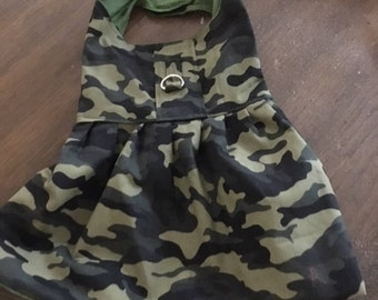 Green Camo  just in time for the  fall festivals dress your fur baby in this cute dress for any fall fest, he or she will fit right in.