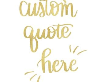 Custom Calligraphy Digital Print - Digital Download