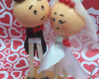 Handmade Bride and Groom Wedding Favors