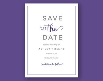 Ultra Violet Save the Date | 5x7 Save the Date Card, Wedding Invite