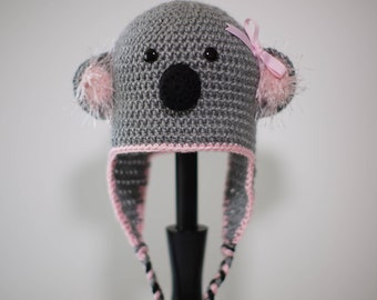 Crochet Girl Koala Hat