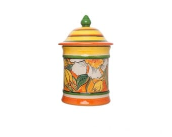 Kitchen jar with flower pattern-Classic Flowers line