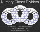 Nursery Closet Dividers, Baby Closet Dividers, Light Purple Elephant Baby Decor, Baby Girl Shower Gift, Light Violet Baby Decor