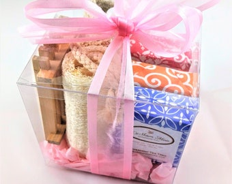 Soap Gift Set, bath & body gift set, 3 soap gift, soap dish spa gift set, pedicure gift set, bath gift set, gifts for women, christmas gift