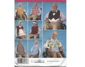 Adult Bib Sewing Pattern - Simplicity 2687 - Clothing Protectors - Holiday - Tuxedo - Santa - Men - Women
