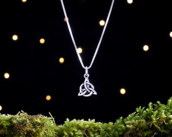 Sterling Silver Celtic Triquetra Knot - Small - (Charm, Necklace or Earrings)