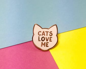Cat Pin - Cat Lady Pin - Cat Pins - Cat Brooch - Cat Gifts - Cat Lady - Cat Gifts - Crazy Cat Lady - Cat Lover - Cat Lover Gifts