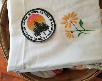 Be Joyful Romans 12:12 Patch Sew on Embroidered Patch or Magnet Handmade in the USA