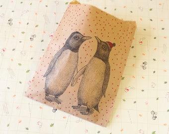 Penguins Animal Print Big Paper Bags