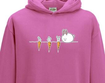 Cute Kawaii Rabbit Hoodie - Child Hoodie - Kids Hoodie - Easter Hoodie - Easter Bunny - Easter Rabbit