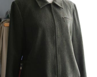 Vintage Pendleton / Vintage Wool Jacket / 90's Zip Front Blazer