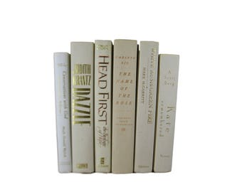 White Hardcover Books for Decorating, Decorative  Books