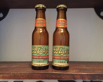 Nostalgic Vintage Blatz Beer Salt And Pepper Shakers