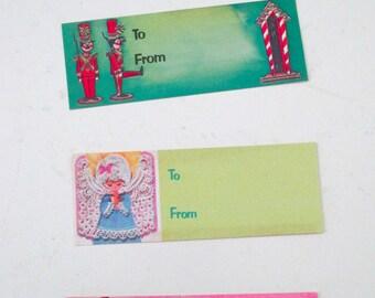 4 Vintage Mod Christmas Gift Tags