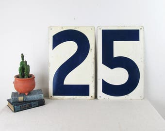 vintage industrial number,LARGE gas station numbers,metal sign,metal numbers,number 5,number 2,number 0,five,two,zero,magnetic,memo board