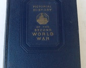vintage book set, Pictorial History of the Second World War, 1944, history, free shipping, from Diz Has Neat Stuff