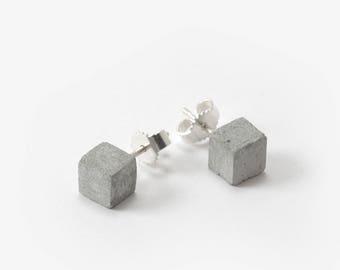 Concrete Stud Earrings, Minimal Jewelry Gift, Concrete Jewelry Earring, Gift For Her,