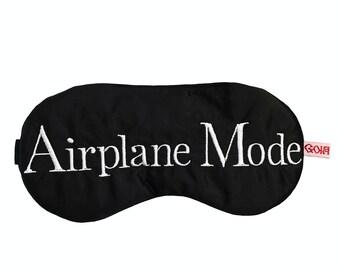 Airplane Mode satin sleep mask