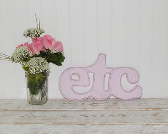 Etc Sign Distressed Word Sign ShabbyCountry Chic Wall Decor
