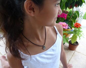 Girls Summer Necklace Paua Shell Small Pendant Childrens Jewelry Girls Necklace Handmade Jewelry For Girls