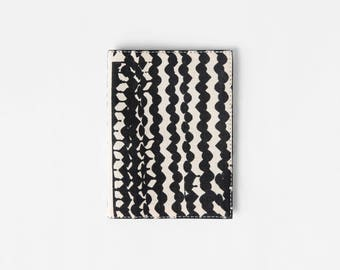 Black Passport Wallet, Vegan Passport Holder, Gift For Travelers, Travel Organizer, Canvas Passport Cover, Girlfriend Gift, Passport Sleeve