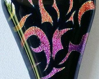 Dichroic Tribal Glass Pendant