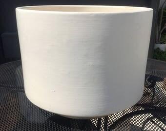 Vintage Gainey Ceramics C-16 Matte White Planter