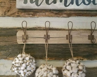 Beautiful, Rustic Cotton Boll Ball