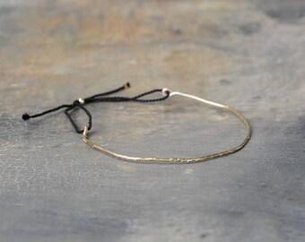"""Bangle Bracelet """"it hammered"""" plated 14 k gold"""