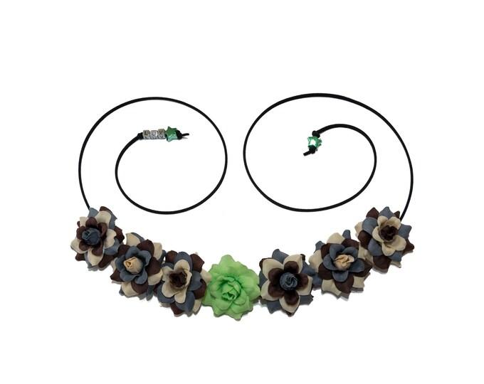 Green Lightsaber Flower Crown