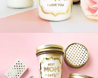 Best Mom Ever Candle - Mom Birthday Card Alternative - Mom Birthday Gift Ideas - Mother Day Gift Ideas  (EB3178MOM) Mom Candle
