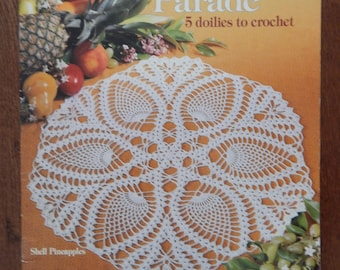 Pineapple Doily Patterns/ Pineapple Parade by Yalanda Wiese/ Pineapple Doilies, 5 Designs 21 - 28 Inches/ Round, Oval, Star Shaped