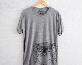 Bentley the Koala - Tri-Blend Unisex Crew Grey