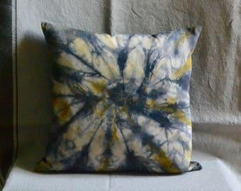 Natural Dye Organic Cotton Cushion - 40 x 40 cm