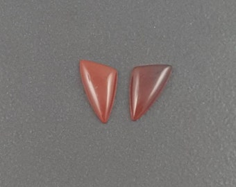 Carnelian Earring Pair Cabochons, matched pair, set of 2, mgsupply, earring stones, earring cabs, red earring pair, red carnelian stones