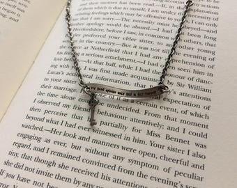 Mr. Darcy - Pride and Prejudice Quote Necklace