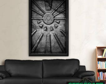 Door of Time,Legend of Zelda Print,Zelda Poster,Zelda Prints,Ocarina of Time,OOT,Link,Navi,Temple of Time,OOT Poster,Breath of the Wild,BOTW