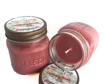 Vegan-Cranberry Woods Soy Candle-Natural Candle- Scented Candle-Fall & Holiday Gifts-Eco-Friendly-Home-Friendly-Mason Jar Candle
