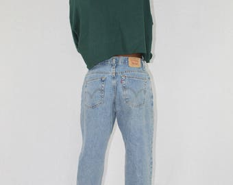 Vintage Levis 550 Jeans Size 10 | High Waisted Jeans | Mom Jeans | Medium Wash Jeans | 90s Jeans