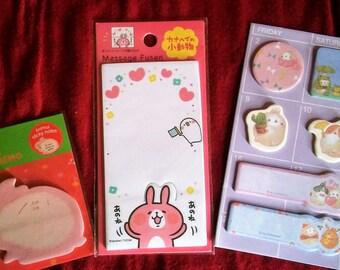LAST CHANCE! Molang, Kanahei, Usagi Rabbit memo sticky pads