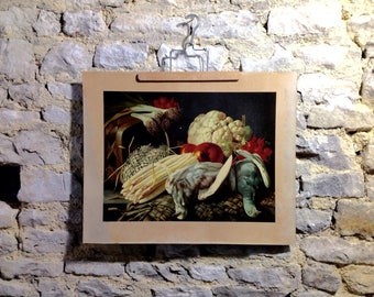 Chromos still life - French antique - Chromolithography french -