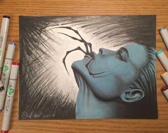 Spider Woman Marker Art Print