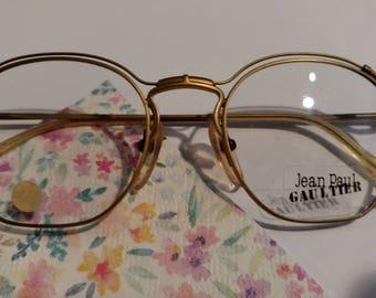 Jean Paul Gaultier Vintage Sunglass Frames Steampunk Gold